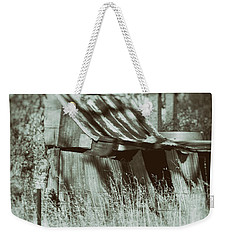 Weekender Tote Bag featuring the photograph Rural Reminiscence by Linda Lees