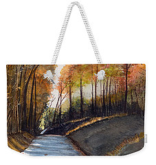 Rural Route In Autumn Weekender Tote Bag