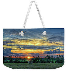 Weekender Tote Bag featuring the photograph Rural Sunset by Lewis Mann