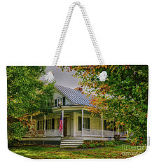 Weekender Tote Bag featuring the photograph Rural Vermont Farm House by Deborah Benoit