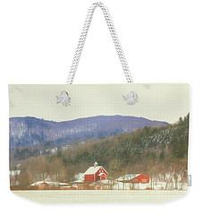 Weekender Tote Bag featuring the digital art Rural Vermont by Sharon Batdorf