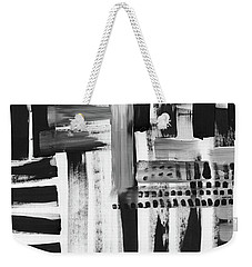 Weekender Tote Bag featuring the mixed media Rush Hour- Art By Linda Woods by Linda Woods