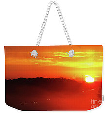 Rush Hour Begins At Sunrise I 94 To Madison Wisconsin Weekender Tote Bag