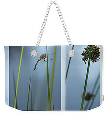 Rushes And Dragonfly Weekender Tote Bag