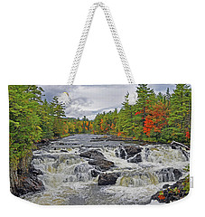 Weekender Tote Bag featuring the photograph Rushing Towards Fall by Glenn Gordon