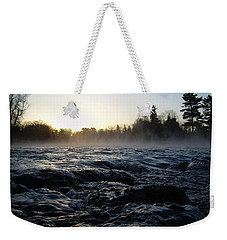 Weekender Tote Bag featuring the photograph Rushing Water In Missississippi River by Kent Lorentzen
