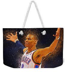 Russell Westbrook Weekender Tote Bag by Semih Yurdabak