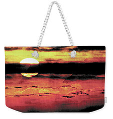 Weekender Tote Bag featuring the painting Russet Sunset by Paula Ayers