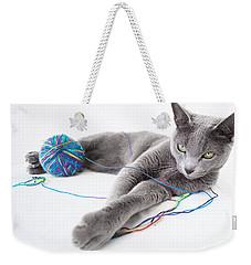 Russian Blue Weekender Tote Bag