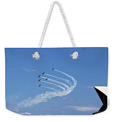Weekender Tote Bag featuring the photograph Russian Roolettes And Opera House by Miroslava Jurcik