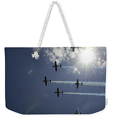 Weekender Tote Bag featuring the photograph Russian Roolettes And Sydney Sun by Miroslava Jurcik