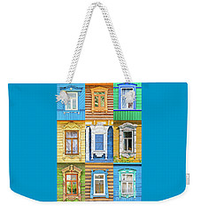 Russian Windows Weekender Tote Bag by Delphimages Photo Creations