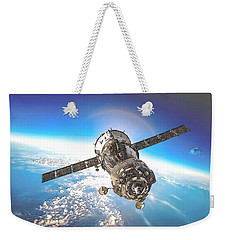 Majestic Blue Planet Earth Weekender Tote Bag by Maciek Froncisz
