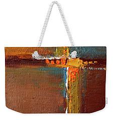 Weekender Tote Bag featuring the painting Rust Abstract Painting by Nancy Merkle