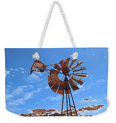 Weekender Tote Bag featuring the photograph Rust Age by Stephen Mitchell