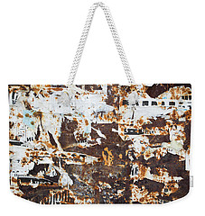 Weekender Tote Bag featuring the photograph Rust And Torn Paper Posters by John Williams
