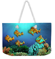 Weekender Tote Bag featuring the photograph Rust Fish by Paul Wear