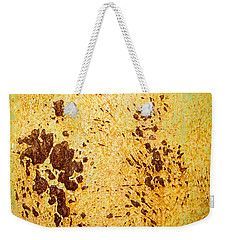 Weekender Tote Bag featuring the photograph Rust Metal by John Williams