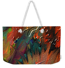 Weekender Tote Bag featuring the painting Rust Never Sleeps by Kevin Caudill