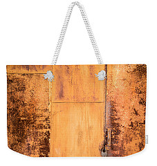 Weekender Tote Bag featuring the photograph Rust On Metal Texture by John Williams