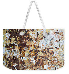 Weekender Tote Bag featuring the photograph Rust Paper Texture by John Williams