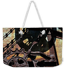 Rusted Gears 2.0 Weekender Tote Bag by Michelle Calkins