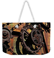 Rusted Gears Weekender Tote Bag by Michelle Calkins