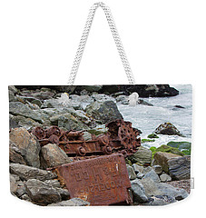 Rusted In Place Weekender Tote Bag by Kandy Hurley