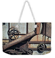 Rusted In Time Weekender Tote Bag by Michelle Calkins