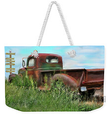 Rusted Not Retired Weekender Tote Bag by Colleen Taylor