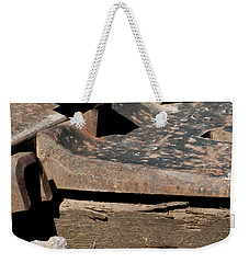Weekender Tote Bag featuring the photograph Rusted Rail by Colleen Coccia