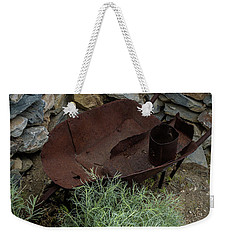 Rusted Wheelbarrow Weekender Tote Bag