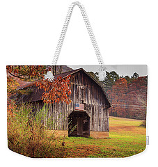 Weekender Tote Bag featuring the photograph Rustic Barn In Autumn by Doug Camara