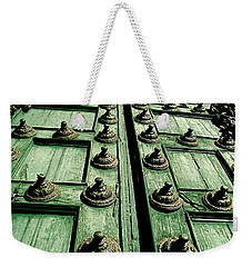 Rustic Church Door Weekender Tote Bag by Valerie Rosen
