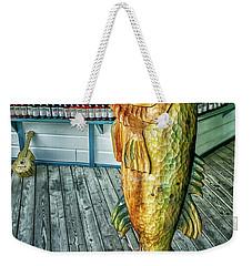 Rustic Fish Weekender Tote Bag