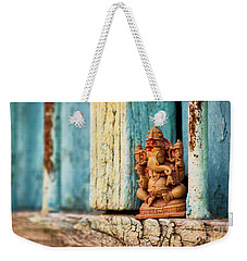 Rustic Ganesha Weekender Tote Bag by Tim Gainey