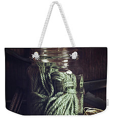 Weekender Tote Bag featuring the photograph Rustic Green by Amy Weiss