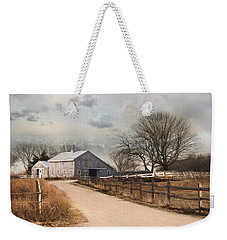 Weekender Tote Bag featuring the photograph Rustic Lane by Robin-Lee Vieira