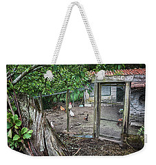 Weekender Tote Bag featuring the photograph Rustic Old House In Galicia by Eduardo Jose Accorinti