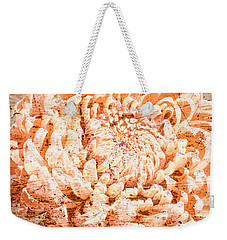 Rustic Peach Mum Weekender Tote Bag by Suzanne Powers