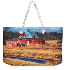 Rustic Red Barn Weekender Tote Bag