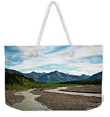 Rustic Water Weekender Tote Bag