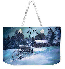 Rustic Winter Barn  Weekender Tote Bag