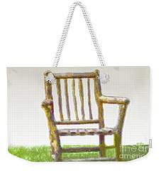 Rustic Wooden Rocking Chair Weekender Tote Bag