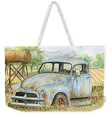 Rusty Blue Chevy Weekender Tote Bag