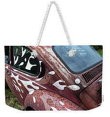 Weekender Tote Bag featuring the photograph Rusty Bug 1 by Carolina Liechtenstein
