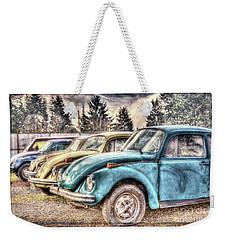 Weekender Tote Bag featuring the photograph Rusty Bugs by Jean OKeeffe Macro Abundance Art