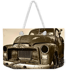 Rusty But Trusty Old Gmc Pickup Truck - Sepia Weekender Tote Bag