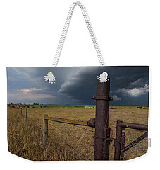 Weekender Tote Bag featuring the photograph Rusty Cage  by Aaron J Groen