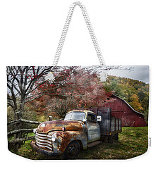 Rusty Chevy Pickup Truck Weekender Tote Bag